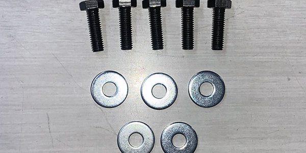 500 750SS/KH250 400 350SS用 クロモリ鋼強化クラッチボルト&ワッシャー5本セット